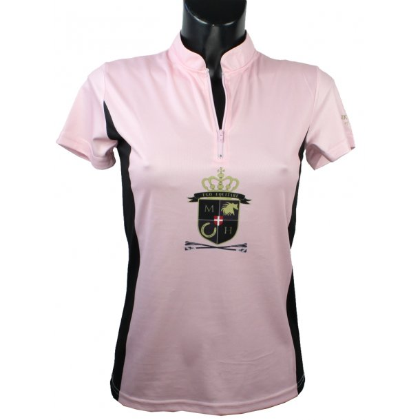 Zip-Shirt aus atmungsaktivem Funktionsmaterial mit schönem Frontlogo