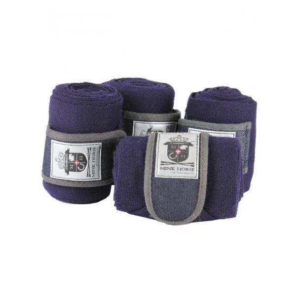 Eksklusiv strik-bandage med dobbelluk i navy