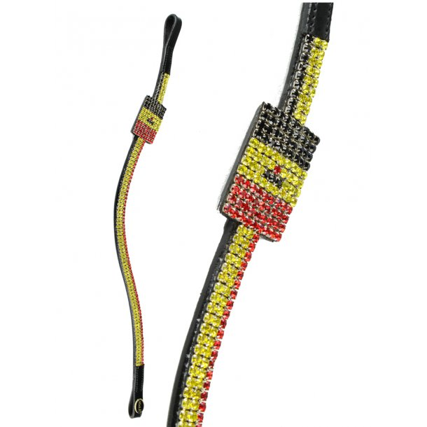 Stirnband mit Flagge aus Kristallen - BELGIEN