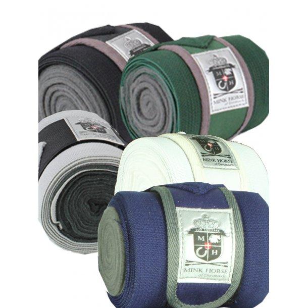 Bandager kombinerede af luksus-fleece/elastik med velcro lukning, 4-set