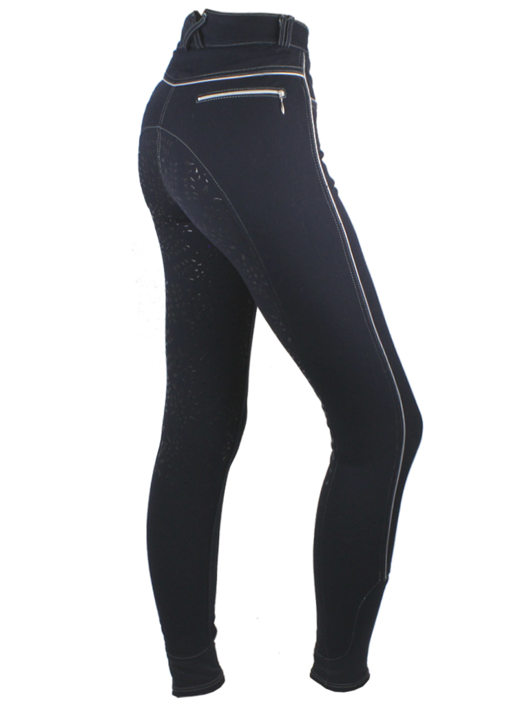 Breeches Quot Equestrian Leaves With Power Grip Navy Riding