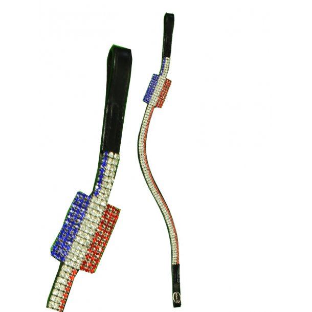 Stirnband mit Flagge aus Krystallen - NIEDERLANDE
