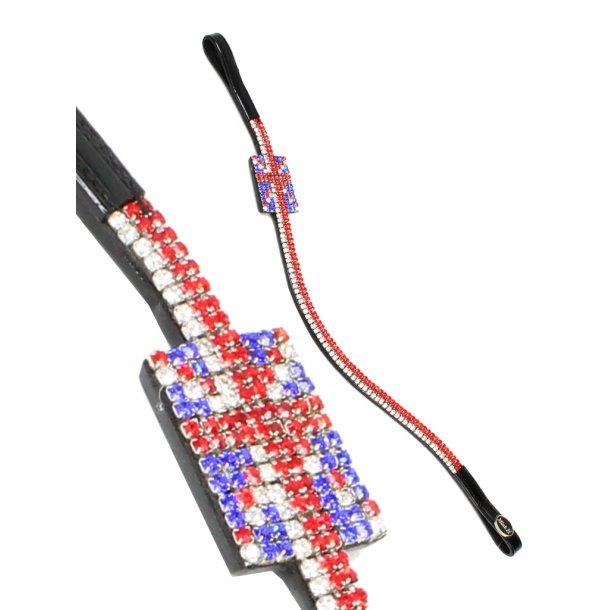 Pannband mit flagga i kristaller -GREAT BRITAIN