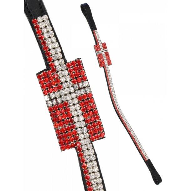 Pandebånd med flag i krystaller - DANMARK