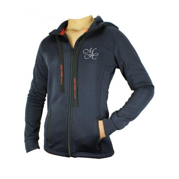 Figurbetonet Zip-up hoodie i smuds og vandafvisende materiale med smarte detaljer