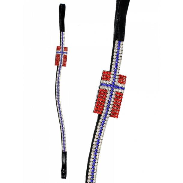 Pandebånd med flag i krystaller - NORGE