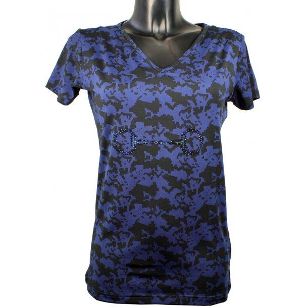 CRYSTAL BID V-hals T-shirt i blødt teknisk materiale