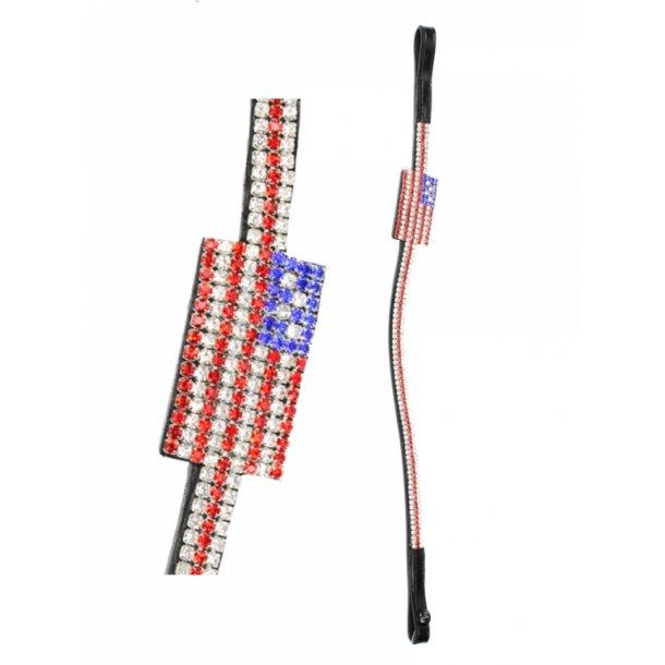 Pannband mit flagga i kristaller - USA